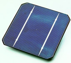 A high-efficiency solar cell like the one used on the JOOS Orange personal solar charger
